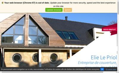 Site internet de Elie le Priol Couverture
