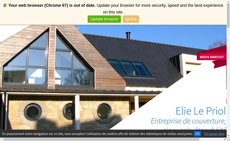 Capture d'écran du site de Elie le Priol Couverture