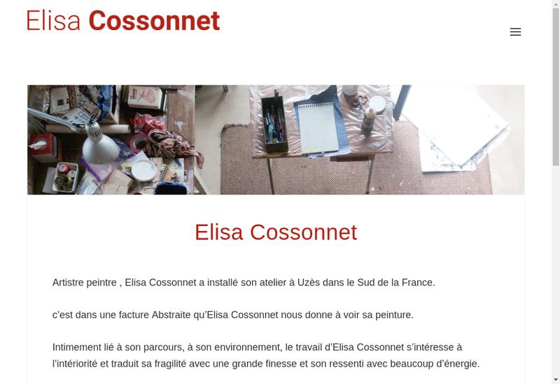 Capture d'écran du site de Elisa Cossonnet