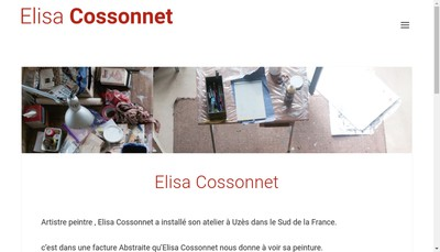 Site internet de Elisa Cossonnet