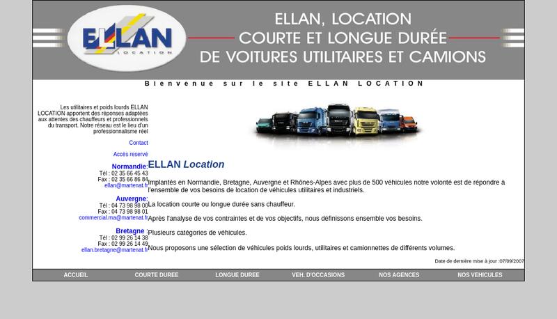 Capture d'écran du site de Ellan
