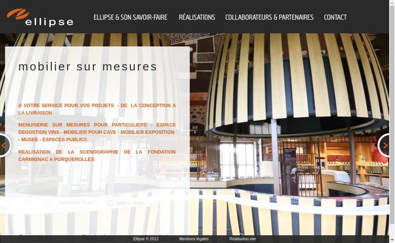 Capture d'écran du site de Ellipse Bois
