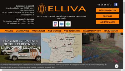 Capture d'écran du site de Elliva
