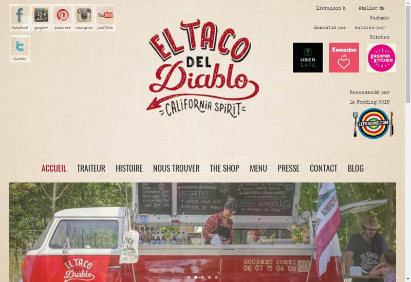 Capture d'écran du site de El Taco Del Diablo
