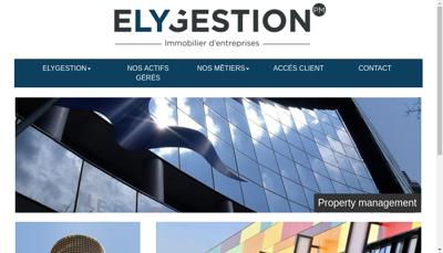Capture d'écran du site de Elygestion