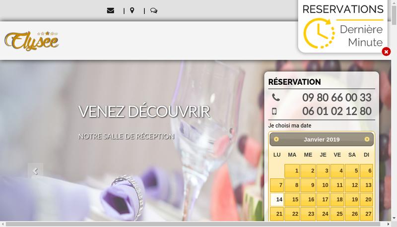 Capture d'écran du site de Elysee