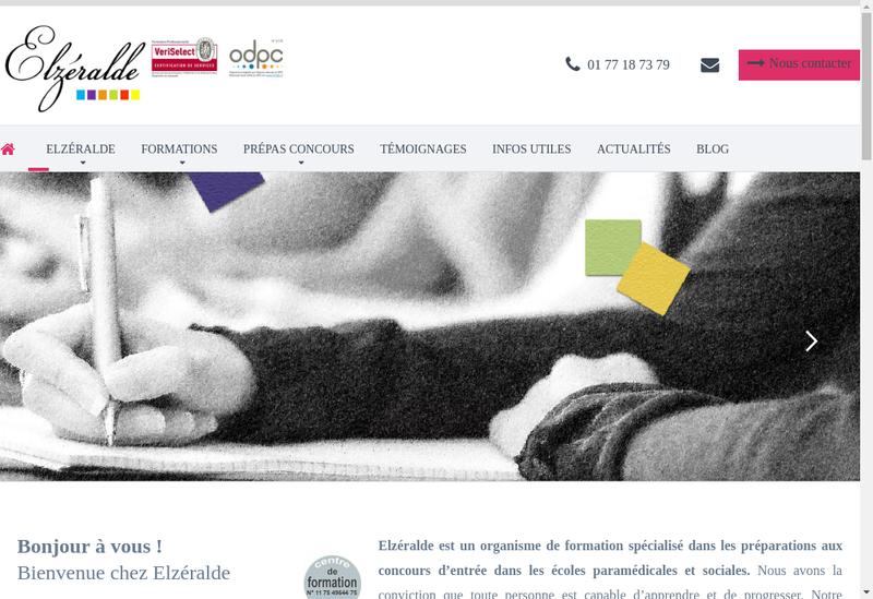 Capture d'écran du site de Elzeralde