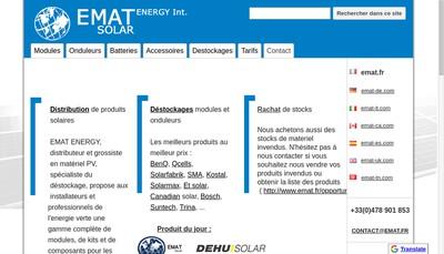 Site internet de Emat