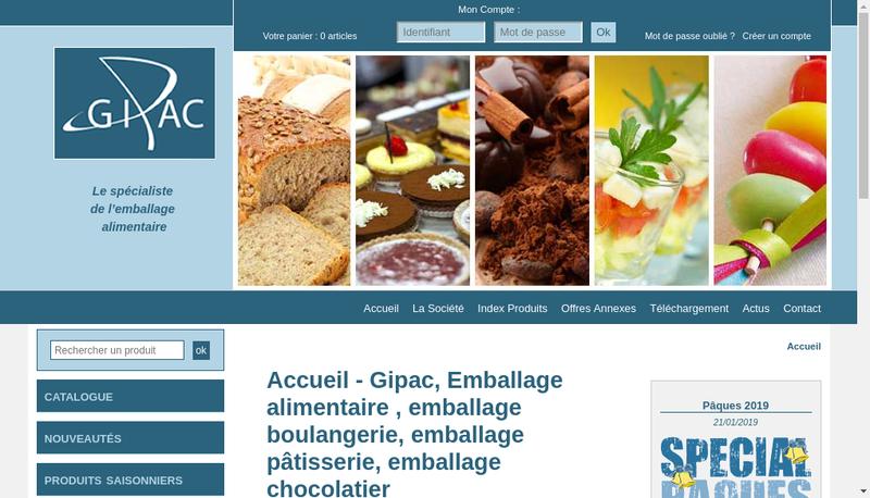 Capture d'écran du site de Gipac