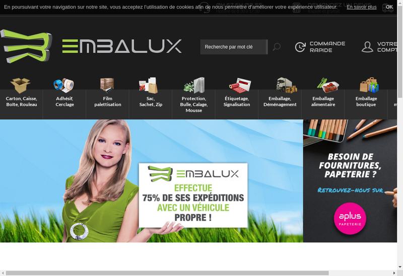 Capture d'écran du site de Embalux