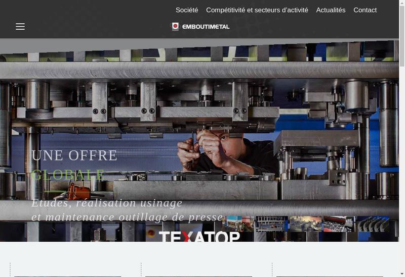 Capture d'écran du site de Emboutimetal