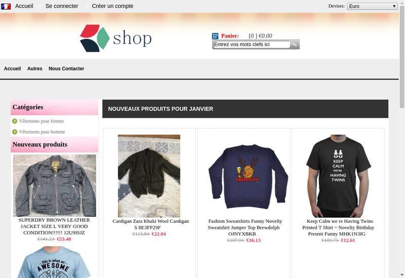 Capture d'écran du site de Emotions Parquets