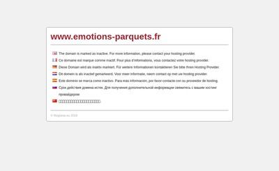 Site internet de Emotions Parquets