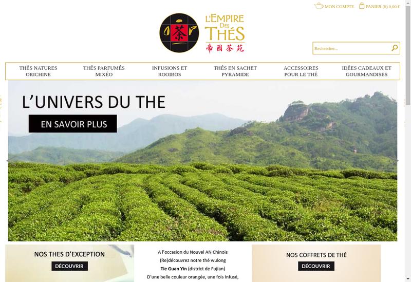 Capture d'écran du site de L'Empire des Thes