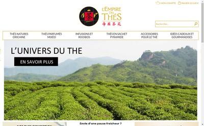 Site internet de L'Empire des Thes