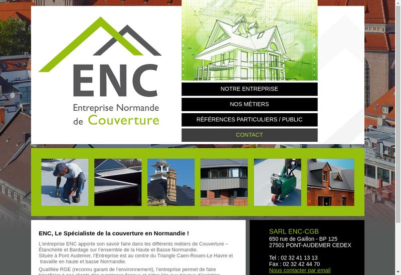 Capture d'écran du site de Enc Cgb