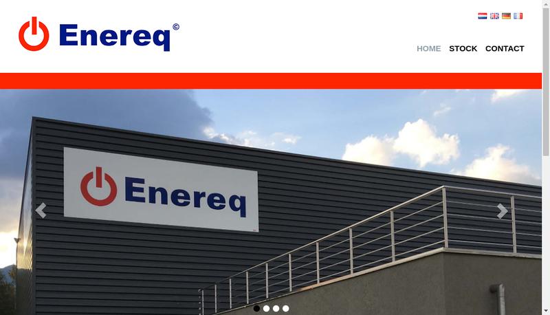 Capture d'écran du site de Enereq SAS