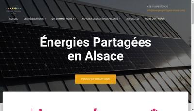 Site internet de Energies Partagees en Alsace