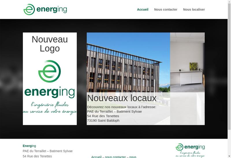 Capture d'écran du site de Energ Ing