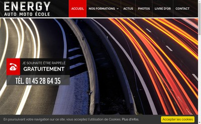 Site internet de Energy Auto Ecole