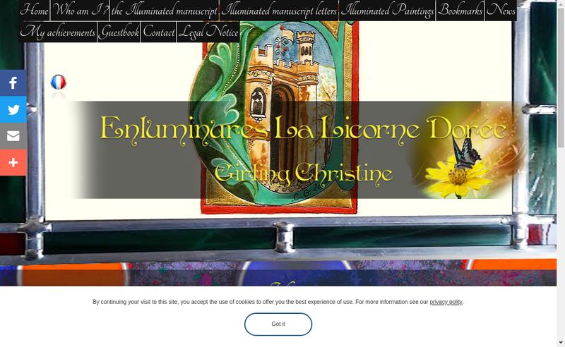 Capture d'écran du site de Christine Girling