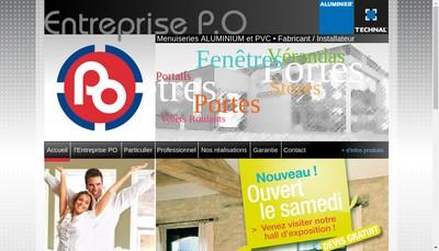 Site internet de Entreprise PO