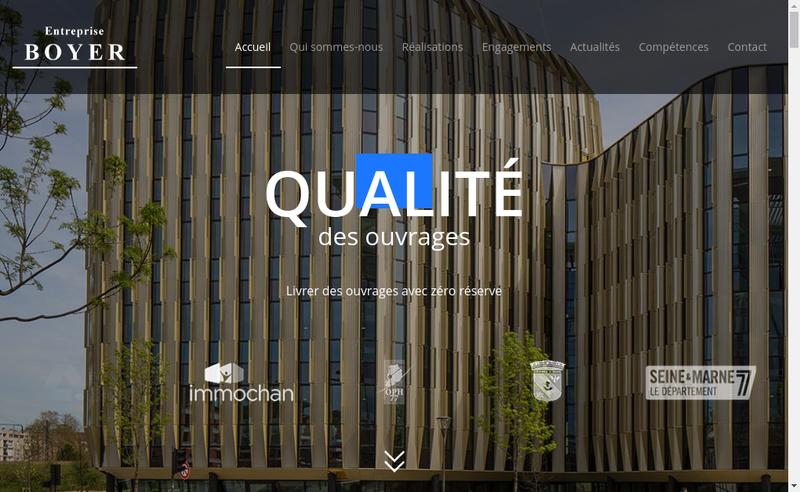 Capture d'écran du site de Entreprise Boyer