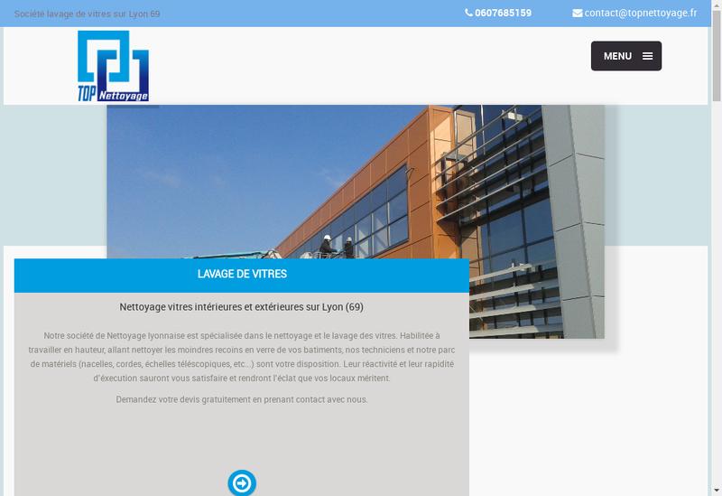 Capture d'écran du site de Top Nettoyage