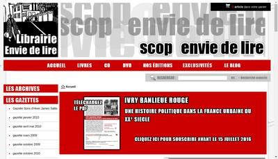 Site internet de Envie de Lire