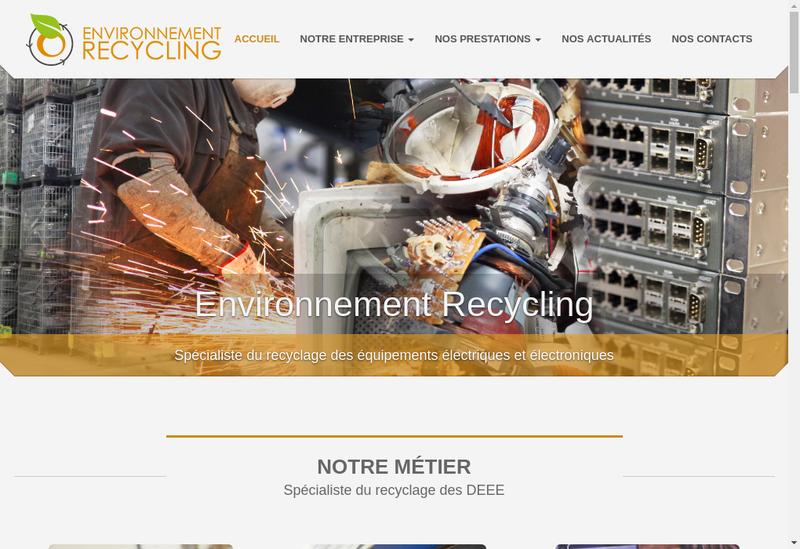 Capture d'écran du site de Environnement Recycling - Monpcpasc