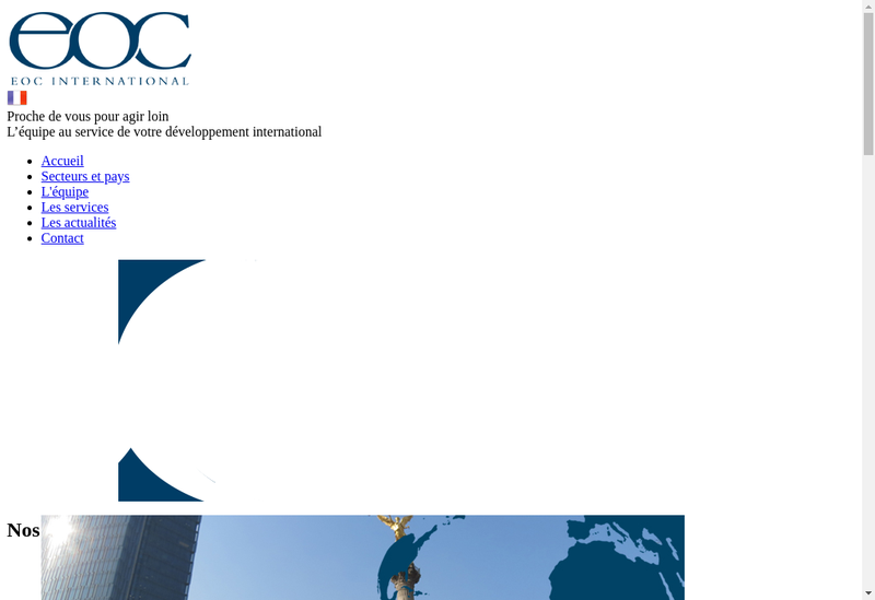 Capture d'écran du site de Eoc International