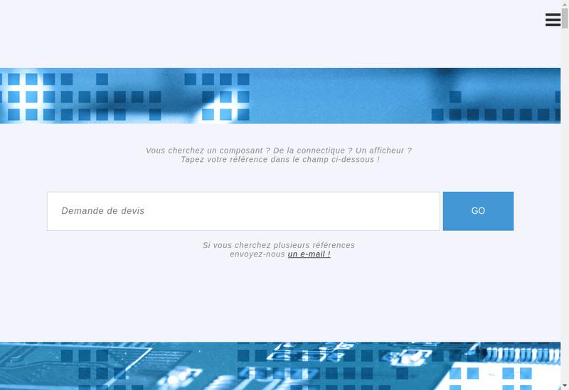 Capture d'écran du site de Eos-Electronic