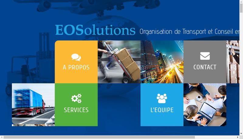 Capture d'écran du site de Eosolutions