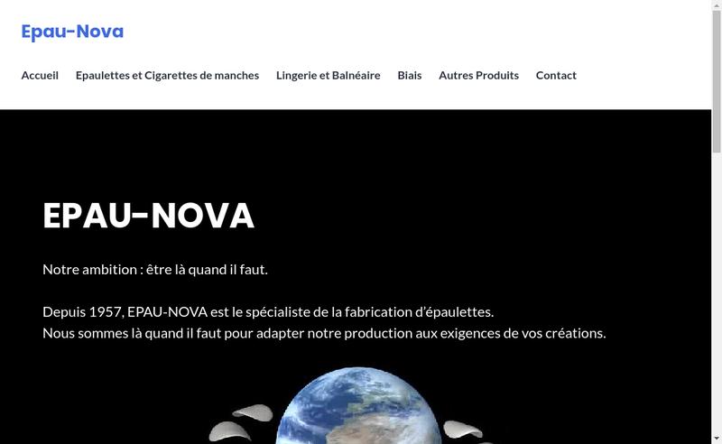 Capture d'écran du site de Epau-Nova