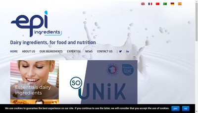 Site internet de Epi Ingredients
