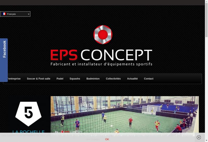 Capture d'écran du site de Eps Concept