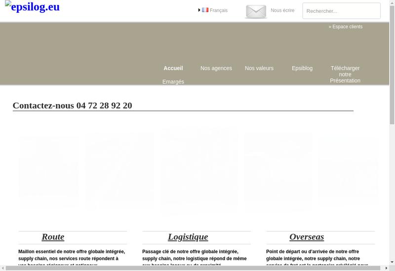 Capture d'écran du site de Epsilog