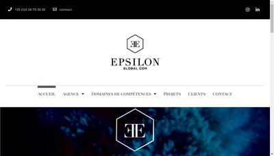 Site internet de Epsilon Global Com