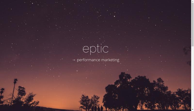 Capture d'écran du site de Eptic