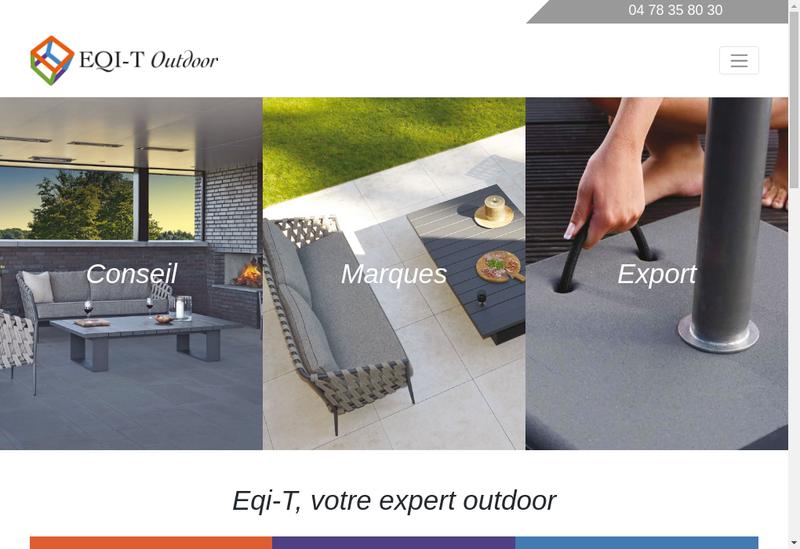 Capture d'écran du site de Eqi-T