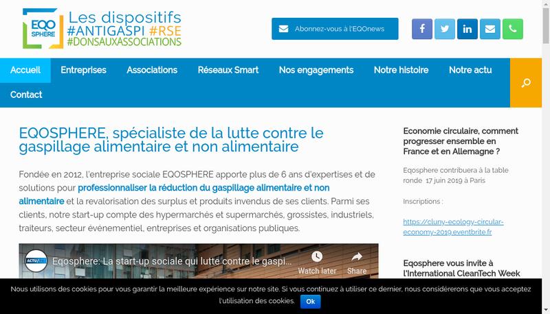 Capture d'écran du site de Eqosphere