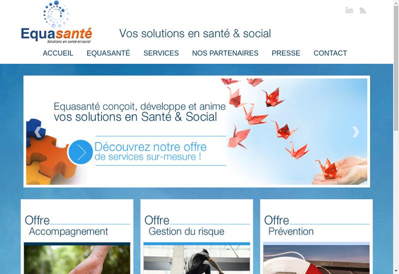 Capture d'écran du site de Equasante