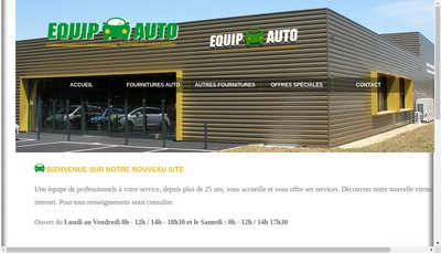 Site internet de Equip Auto