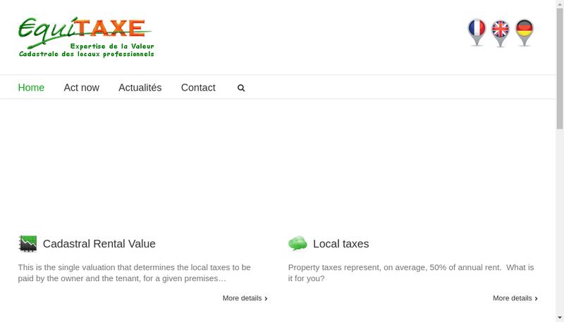 Capture d'écran du site de Equitaxe