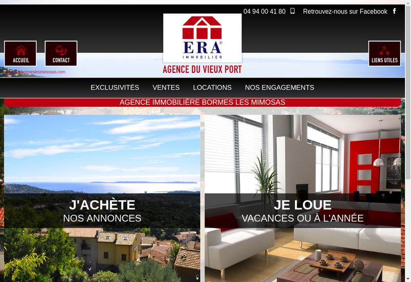Capture d'écran du site de Agence du Vieux Port