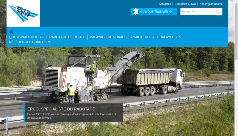 Capture d'écran du site de Colas Centre Ouest
