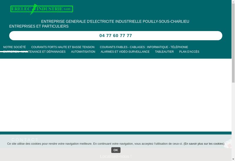 Capture d'écran du site de Erelec Industrie