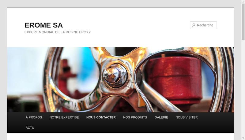 Capture d'écran du site de Ceramique Moulage Erome Cme