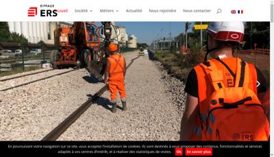 Capture d'écran du site de ERS