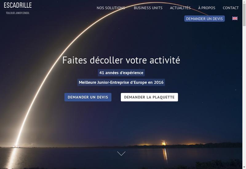 Capture d'écran du site de ESCadrille